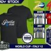 Kaos PIALA DUNIA Disain WORLD CUP - ITALY 12
