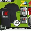 Kaos PIALA DUNIA Disain WORLD CUP - JAPAN 2
