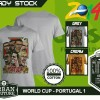 Kaos PIALA DUNIA Disain WORLD CUP - PORTUGAL 1