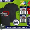 Kaos PIALA DUNIA Disain WORLD CUP - PORTUGAL 8