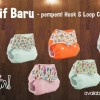 Pempem Velcro Bulu Angsa + Insert Litty (cloth diapers / clodi / popok