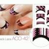 Elizavecca Korean Twinkle French ACO42 Pink Black Lace