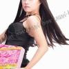 Kanari Hime Long Straight Wig Color: Black, Dark Brown