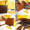 Dompet Bally Leather Guine Brown