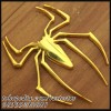 Emblem Spiderman Metal & Gold Chrome
