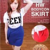 HW Bodycon Skirt / Bandage Suspender