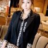 Chiffon Leopard Loose Casual Shirt Black 14966BK