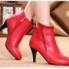 sepatu high heels seleting merah fashion korea 5cm modis trendy