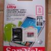 MicroSDHC Sandisk Ultra Class 10 Kapasitas 8 GB + Adapter
