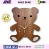 Jam dinding - MWC Bear - JNE 1KG - Garansi Seiko 2 Tahun!