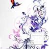 Bunga Ungu Burung - Stiker Saklar Lampu / Light Switch Sticker