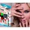 6 Color Starter Kit Hot Design Nail Art Basic Kit - Red Blue Green Black White & Pink Salon Polish Pen Brush As Seen on Tv