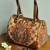 TAS KULIT BATIK SRI 5 ( Speedy Bag ) PARANG GURDO LONG STRAP  (Small )