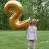Balon Foil Angka Jumbo warna Emas