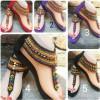 Sepatu Sandal Etnik Motif  India Tinggi 3cm