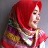 Jilbab Segi Empat Turkey Motif