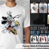 Kaos Kartun - Funny Sketch Characters 5 TX