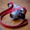 Strap Kulit Kamera Mirrorless dan Kamera Film (RED)
