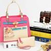 Tas Korea Import Pinky Doll free wallet
