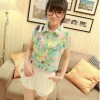 blouse floral IMPORT 2055 light green