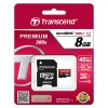 MICRO SD 8GB + ADAPTER UHS 300x PREMIUM TRANSCEND