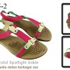 Sandal spotlight ankle Red SA005-2