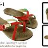 Sandal spotlight simple Red SA006-1