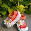 Sepatu Rajut Orange White