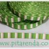 PGM-316 : Pita Grosgrain Strip Hijau 1 cm