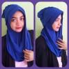 Kerudung/hijab/jilbab instant model hanna dengan pet.