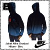 Jaket Nike Gradasi Hitam - Biru / Black - Blue