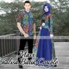 COUPLE KHALISA BATIK BIRU ORI by DHABI