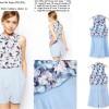 Jumpsuit Mini Floral Import, Soft Chiffon, Soft Hemp, Lookbook