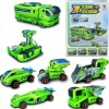 mainan anak robot Solar Transformer Car Truck Power Plant Racing Car