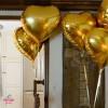 "GOLD HEART SHAPED FOIL BALLOON 18"""