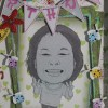 scrapframe with caricature for bday gift