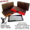 DOMPET HP LV KULIT CASE TABLET 7-8 INCi SERBAGUNA mono black