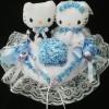 Bantal cincin wedding ring pillow boneka bantalan kotak cincin 4301
