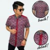 Kemeja Short Batik Songket With List Maroon