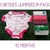 Jumper Carter pack / Jumper bayi 12 bulan isi 5 girl