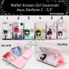 Wallet Korean Girl Asus Zenfone 2 - 5.5""