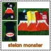 6 12 18 bulan setelan monster/stelan kaos monster