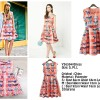 Plaid Butterflies Flare Dress Kupu-kupu Y36594