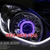 Headlamp Full Custom Agya / Ayla + LED AUDI LINE (bisa pilih warna)