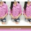Kemeja Pastel Pocket Pink