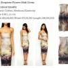 ID-109 Strapless Flower Midi Dress