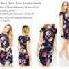 ID-115 Black Flower Dress