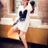 Baju Wanita Fashion Color WHITE T1071