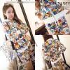 Baju Cantik BERGAMBAR korea impor LS6602