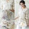 Baju Wanita Cantik Korea Impor Color BEIGE T35273